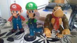 Bonecos Mário, Luigi e Donkey Kong