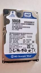 Título do anúncio: HD WD (Western Digital) 500GB Sata para Notebook