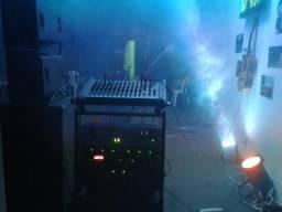 Mesa, potências, caixas, perifércos, microfones, pedestais