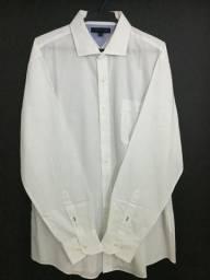 Camisa branca social tommy hilfiger masculina
