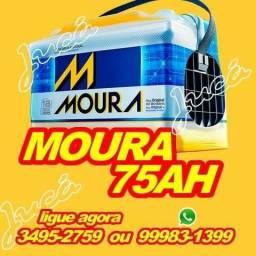 Bateria Moura 75ah com 18 messes de gatantia + brindes!!!
