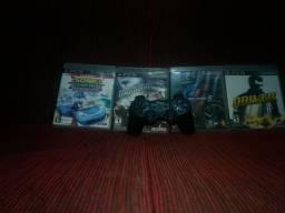 Jogos de ps3 e controle