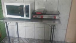 Forno,prensa,mesa