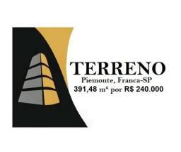 Terreno no Piemonte, Franca-SP por R$ 240.000