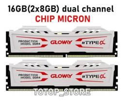 Memória RAM Glowy 8 Gb 2666 Mhz Branca