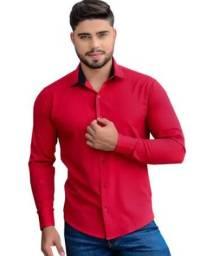 Camisa Masculina Slim Fit Luxo