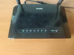 Roteador D-Link 2 Antenas (Aceito Cartão)