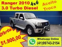 Ford Ranger Cabine Dupla 2010 XLT 3.0 4x4 Turbo Diesel - Aceito Troca - Financio - 2010