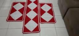 Tapete de crochê, 3 peças.