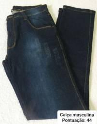 Calças jeans masculinas disponível