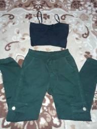Calça Militar feminina e croppde