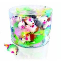 (WhatsApp) brinquedo pet cat toy ratinho c/ penacho