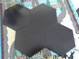 Piso porcelanato hexagonal