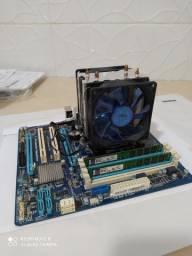 Kit gamer- Placa mãe Gigabyte, Processador Intel i5 3° geração, 8Gb de mem. RAM