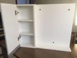 Armário para banheiro MDF branco