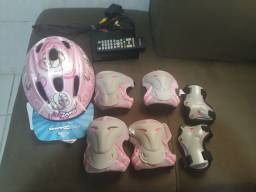 Capacete + kit proteção