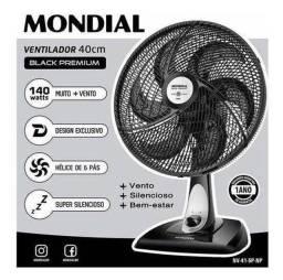 Ventilador Mondial Black Premium novo na caixa