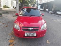 Gm - Chevrolet celta 2012 ls 1.0/8v flex c/gnv ar gelando(pneus novos) som 2021 ok