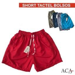 Short Tactel com Bolsos