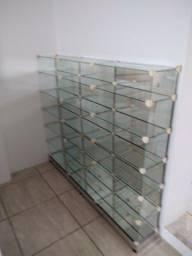 Prateleira de vidro duplo