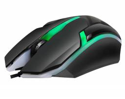 Mouse Gamer Hayom MU2908 com 3 botões 1000 DPI - LED Colorido