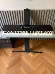 Teclado Casio Digital Keyboard WK-240 com Fonte e Suporte