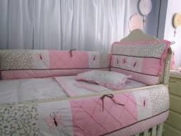 Kit Berço rosa padrão Americano com 8 peças ? Menina
