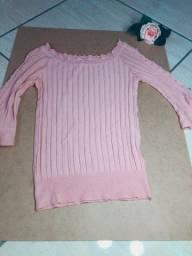 Blusa rosa bebê