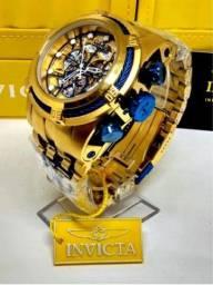 ??INVICTA ZEUS BOLT SKELETON + Brinde Corrente Cartier 70cm e Pulseira 22cm??