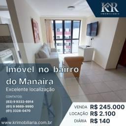Título do anúncio: Apartamento com 1 dormitório, 46 m² - venda por R$ 245.000 ou aluguel por R$ 2.100/mês e R