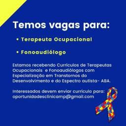 Vagas para profissional de saúde com curso ABA (Fonoaudiólogos e Terapeutas Ocupacionais.