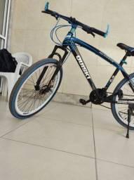 Bike aro 20 com freio a disco e amortecedor
