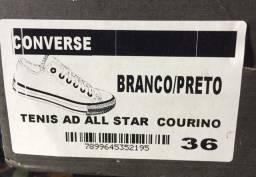 Tênis Juvenil Converse All Star Chuck Taylor Tecido - Branco