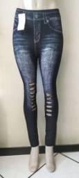 Calça Legging imita  jeans