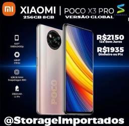 X3 Pro 256Gb 8Gb Ram Lacrado 12x sem juros com nota e garantia