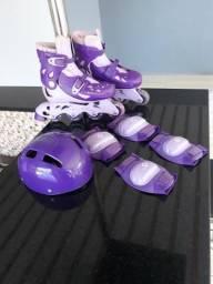 Vendo patins ajustável com kit completo marca FENIK