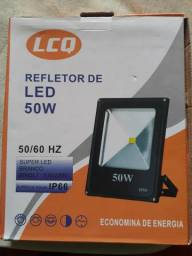 Refletor Led Holofote 50w Resistente Água Branco Frio