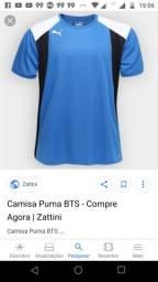 8212a2032f Camisa Puma Tam P 1 Preta e outra Azul + Brinde Camisa Vitória Puma P