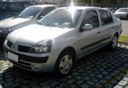 Clio Sedan Completo, Flex, ar condicionado, direção hidraulica, particular excelente preço - 2004