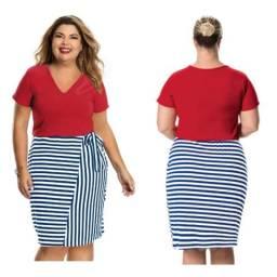 Vestido Plus Size tamanho GG
