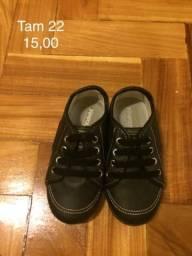 Sapato menino tamanhos 20 a 23