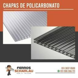 Chapa de Policarbonato Fume Alveolar 4mm - Ideal para Pergolados, Toldos e Coberturas