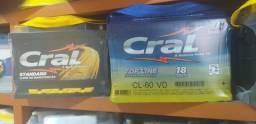 Baterias Cral 60ah, com 18 meses Garantia
