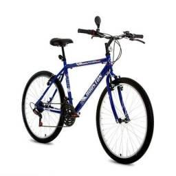 Bicicleta houston, aro 26, azul, nova
