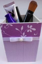 Porta pincel, organizador de maquiagem em MDF