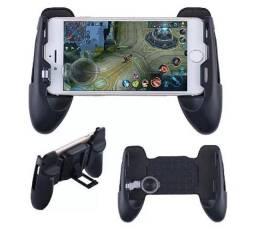 Gamepad com joystick e suporte pro celular