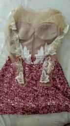 Vestido paetê festa