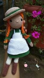 """Boneca Anne With An """"E"""" Amigurumi (em crochê)"""