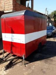 Food Truck - Com Chapa 05 Bocas, Geladeira, pia e Caixa de agua