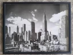 Título do anúncio: Quadro New York City NYC (Tela + Moldura Caixa de Vidro)